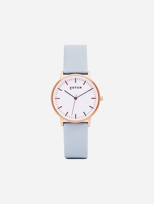 Votch Rose Gold & Light Blue Vegan Watch | Moment