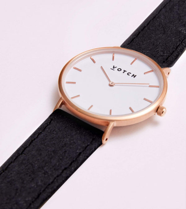 Votch Rose Gold & Piñatex Vegan Watch | Classic