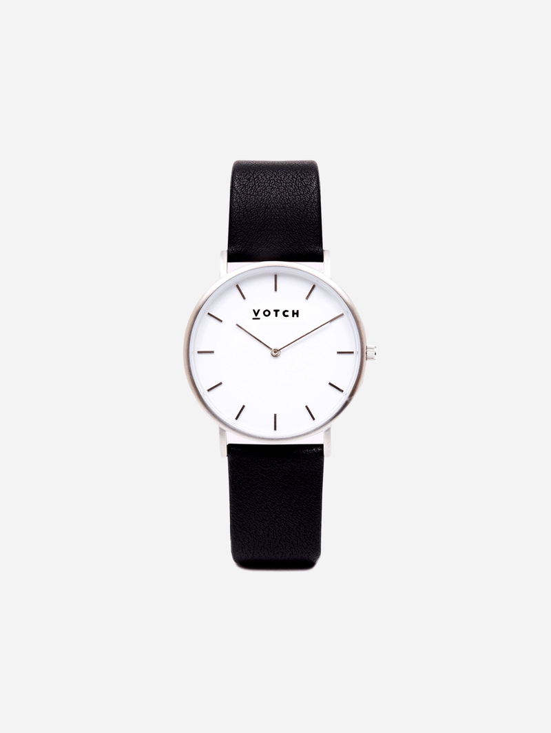 Votch Silver & Black Vegan Watch | Classic