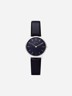 Votch Silver & Black with Black Face Vegan Watch | Petite