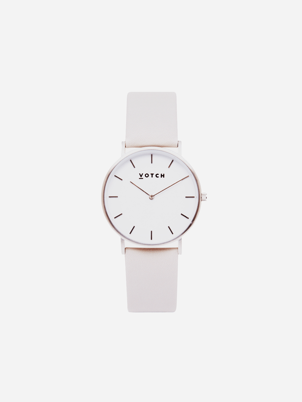 Votch Silver & Light Grey Vegan Watch | Classic