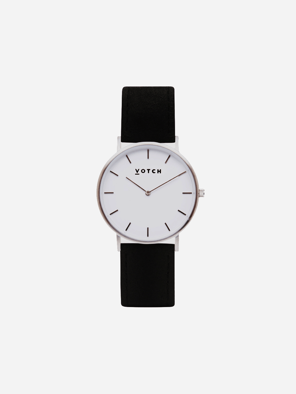 Votch Silver & Piñatex Vegan Watch | Classic