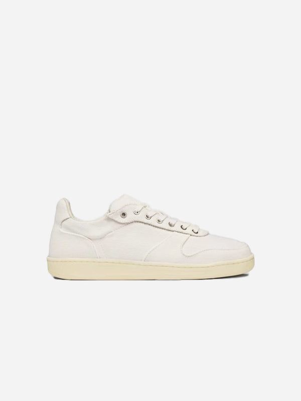 WAES 1982 Plastic Free Vegan Organic Canvas Trainer | White