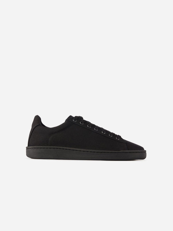 WAES Hope Plastic-Free Organic Canvas Trainer | Black