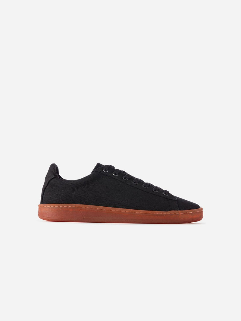 WAES Hope Plastic-Free Organic Canvas Trainer | Black Red
