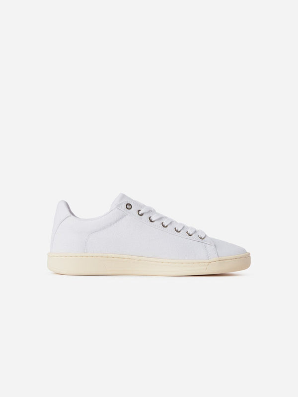 WAES Hope Plastic-Free Organic Canvas Trainer | White