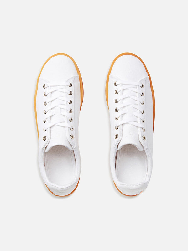 WAES Hope Plastic-Free Organic Canvas Trainer | White Lite