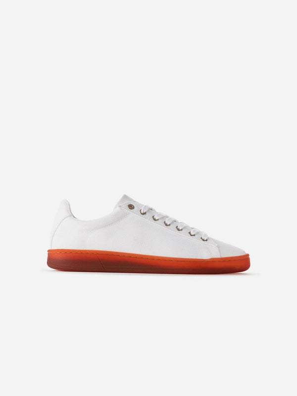 WAES Hope Plastic-Free Organic Canvas Trainer | White Red