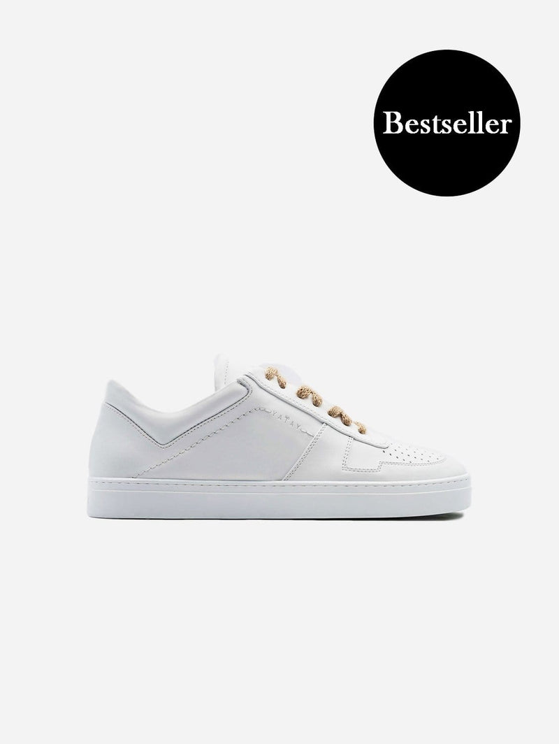 yatay IRORI Vegan Leather Trainer | Birch White
