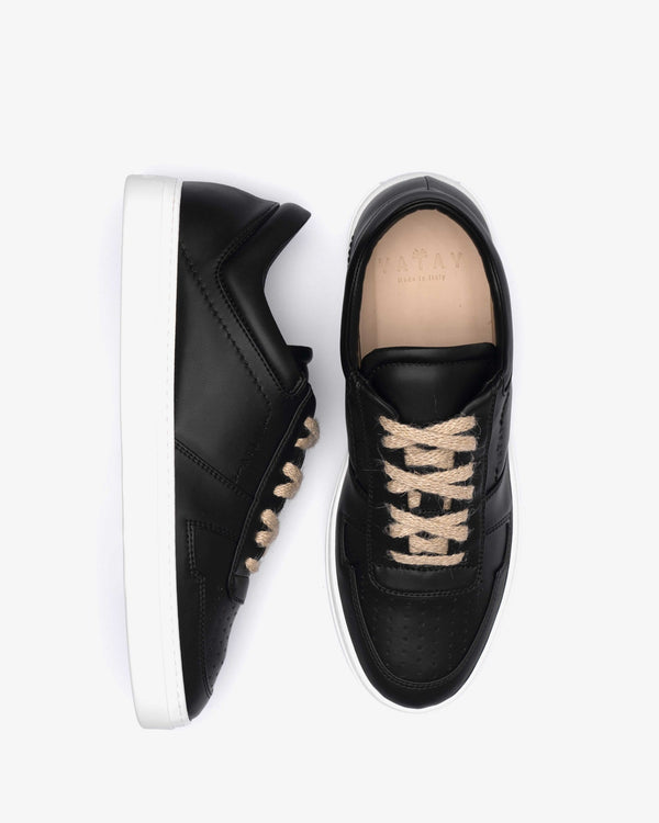 yatay IRORI Vegan Leather Trainer | Slate Black