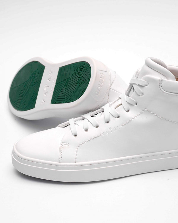 yatay Neven Vegan Leather High-Top Trainer | Birch White