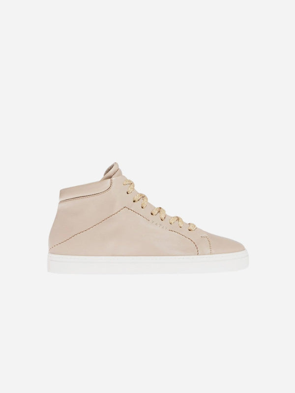 yatay Neven Vegan Leather High-Top Trainer | Hemp Brown