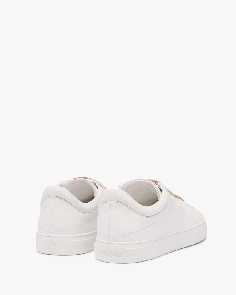 yatay Neven Vegan Leather Low-Top Trainer | Birch White