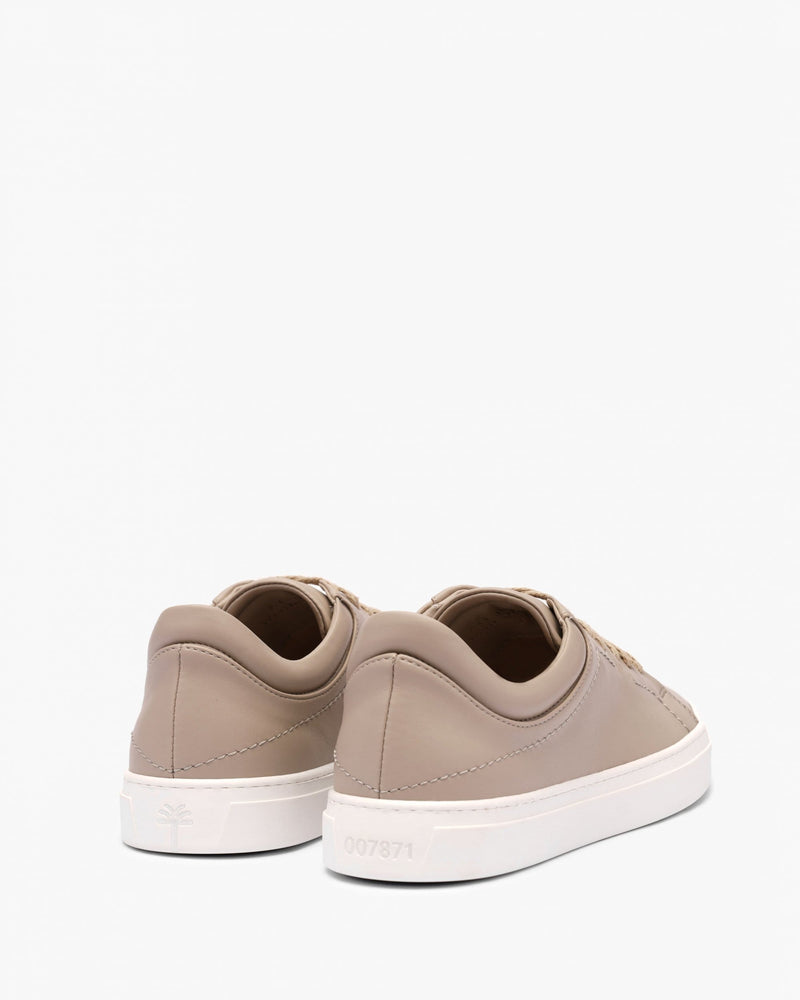 yatay Neven Vegan Leather Low-Top Trainer | Hemp Brown