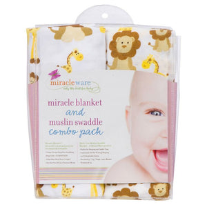 Miracle Blanket - Giraffes and Lions