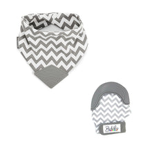 Load image into Gallery viewer, Bubify Mitt and BooginHead Bib Combo – Grey Chevron