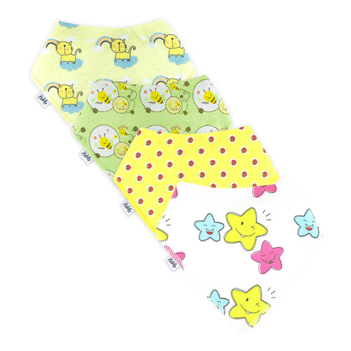 Bandana Bibs 4 Pack - Happiness