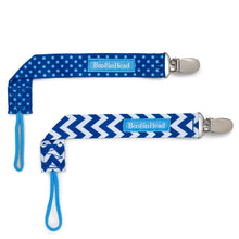 Load image into Gallery viewer, PaciGrip Double Pack - Blue Chevron