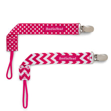 Load image into Gallery viewer, PaciGrip Double Pack - Pink Chevron