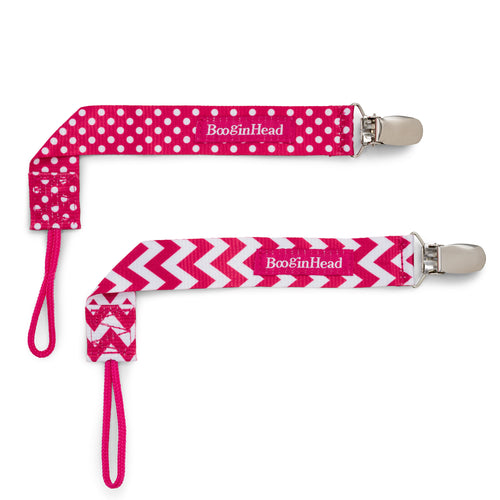 PaciGrip Double Pack - Pink Chevron