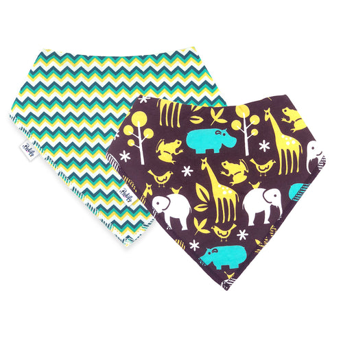 Bandana Bibs 2 Pack - Jungle