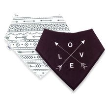 Load image into Gallery viewer, Bandana Bibs 2 Pack - LOVE