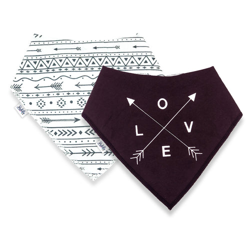 Bandana Bibs 2 Pack - LOVE