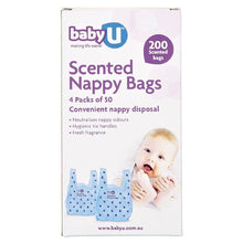 Load image into Gallery viewer, Baby U Scented Nappy Bags 50pk