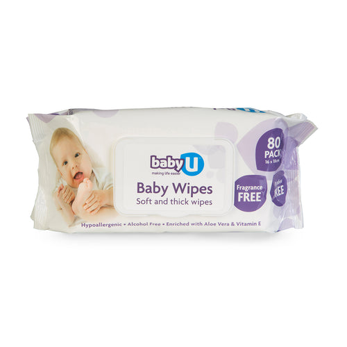 Baby U Baby Wipes Fragrant Free 80pk