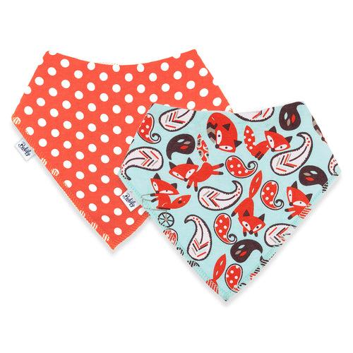 Bandana Bibs  2 Pack - Fox Dot