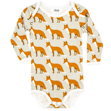 Load image into Gallery viewer, Long Sleeve Organic Bodysuit - Fox