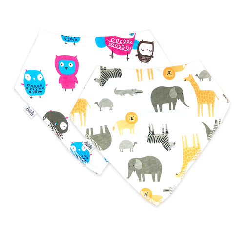 Bandana Bibs 2 Pack - Little Animal