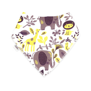 Bandana Bibs 4 Pack - Elephants