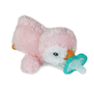 Plush toy pacifier holders
