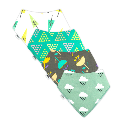 Bandana Bibs 4 Pack - Clouds
