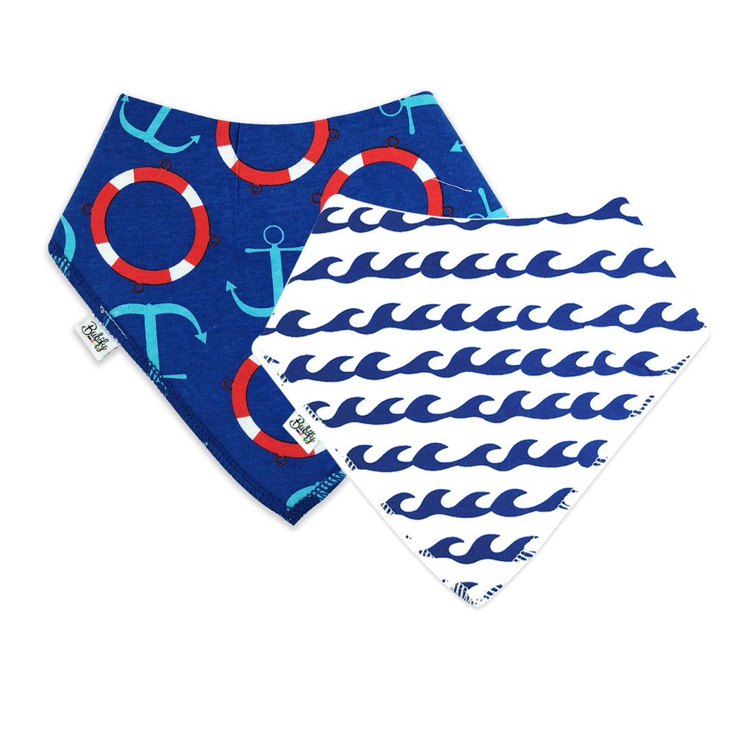 Bandana Bibs  2 Pack - Waves