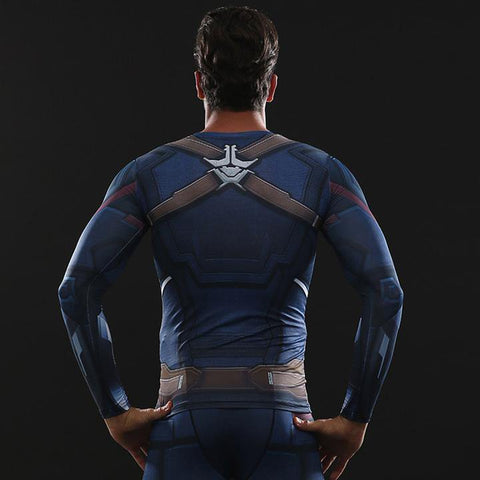 8157f7d8b57ef2 Infinity War Captain America Compression Set – Superhero T-shirts
