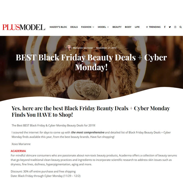 PLUSMODEL: BEST Black Friday Beauty Deals + Cyber Monday!
