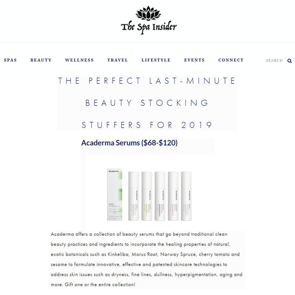 The Spa Insider Features Acaderma Serum Collection