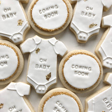 Load image into Gallery viewer, Baby Shower Mix Sugar Cookies personalized to your baby's name (1 dozen)