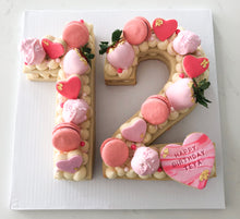 Load image into Gallery viewer, Custom Number Sugar Cookie Cake with Vanilla Buttercream Frosting