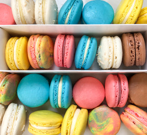 Colourful and Multiple Flavours Macarons