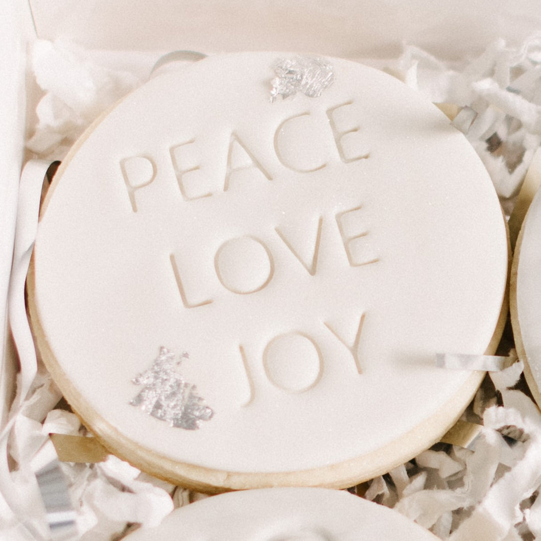 PEACE LOVE JOY Vanilla Sugar Cookie (12 per set)