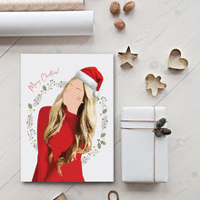 Load image into Gallery viewer, Custom Holiday Card - Single person