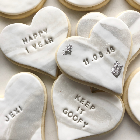 Marble Vanilla Sugar Cookies personalized message (1 dozen)