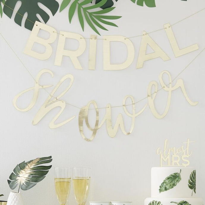 Gold Bridal Shower Banner