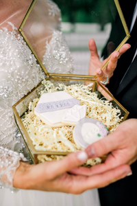 Mr & Mrs and Engagement Ring Lavender and White Lace Sugar Cookies (1 dozen)
