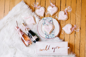 Bridesmaid Heart Shaped Sugar Cookies Customized For Your Bridal Party (1 dozen)