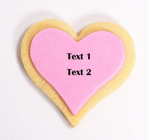 Design Your Own Heart Shaped Vanilla Sugar Cookies for showers, bridal event, or birthday(1 dozen)