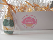 Load image into Gallery viewer, Champagne Bottle royal icing Sugar Cookies for Graduation and New Years (1 dozen)